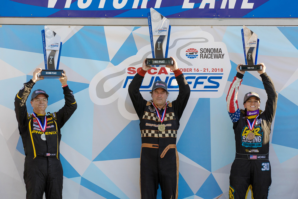 Michele on the podium taking third at the National Runoffs