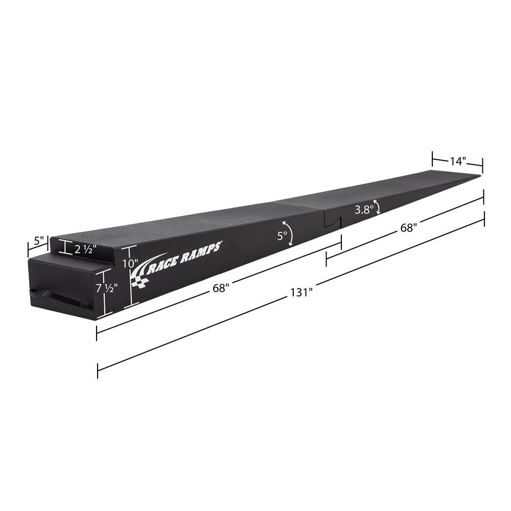 RR-TR-10-2 10 H Solid Two-Piece Trailer Ramp - 38 Degree Approach Angle