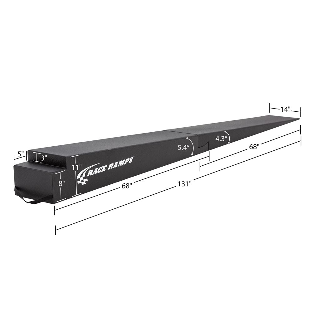 RR-TR-11-2 11 H Solid Two-Piece Trailer Ramp - 5 Degree Approach Angle