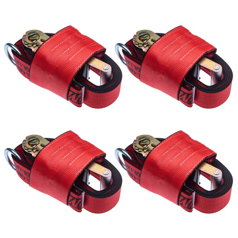 RR-Wheel-Net-12000-4 2 Wide Wheel Tie-Down Straps for 19 Diameter Tires - Pack of Four